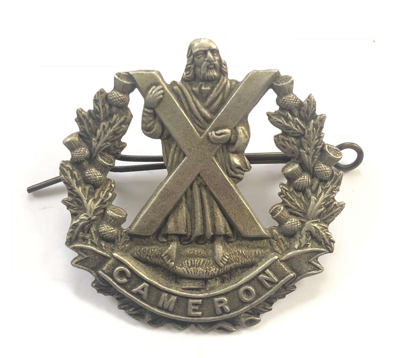 WW1/WW2 Cameron Highlanders Scottish Cap Badge.