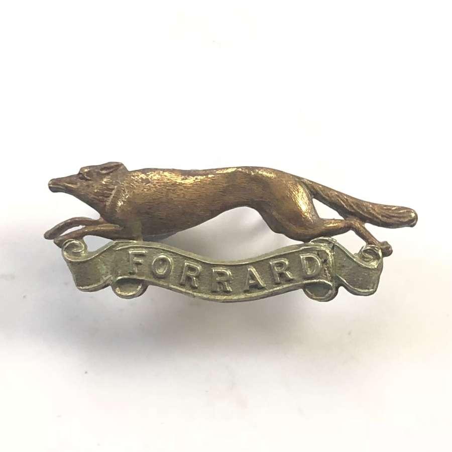 WW2 East Riding Yeomanry Cap Badge.