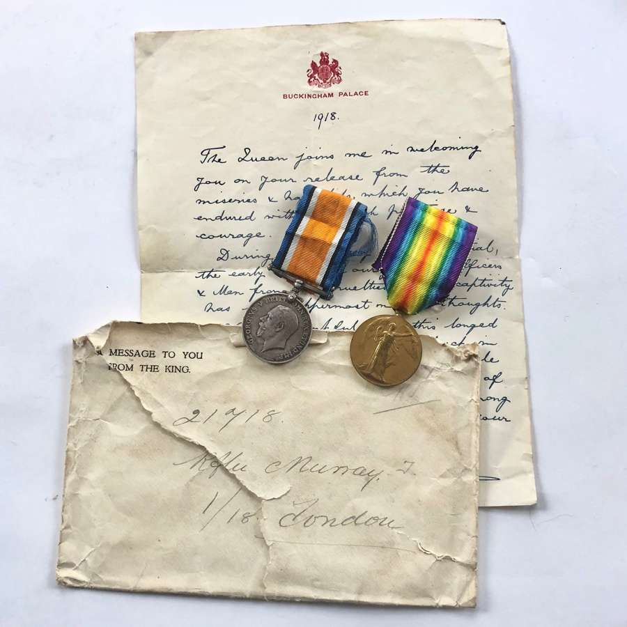 WW1 1/18th (London Irish) POW Group of Medals.