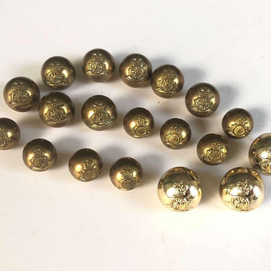 Royal Horse Artillery Officer's Ball Pattern Buttons.