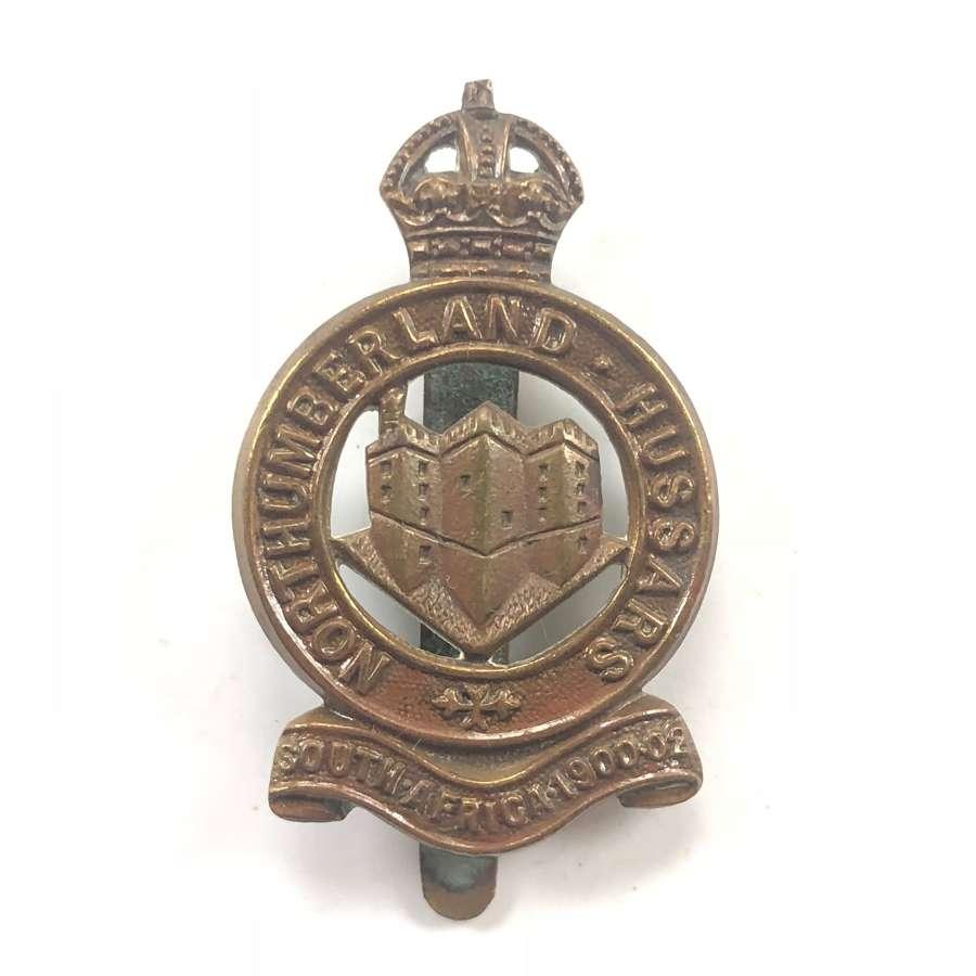 WW1 Northumberland Hussars Yeomanry Other Rank's Cap Badge.