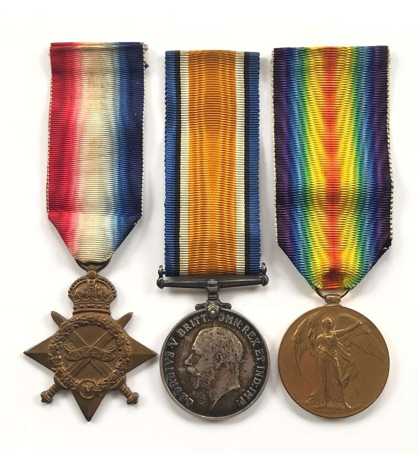 WW1 Royal Navy Unusual Rank Group of Three Medals.