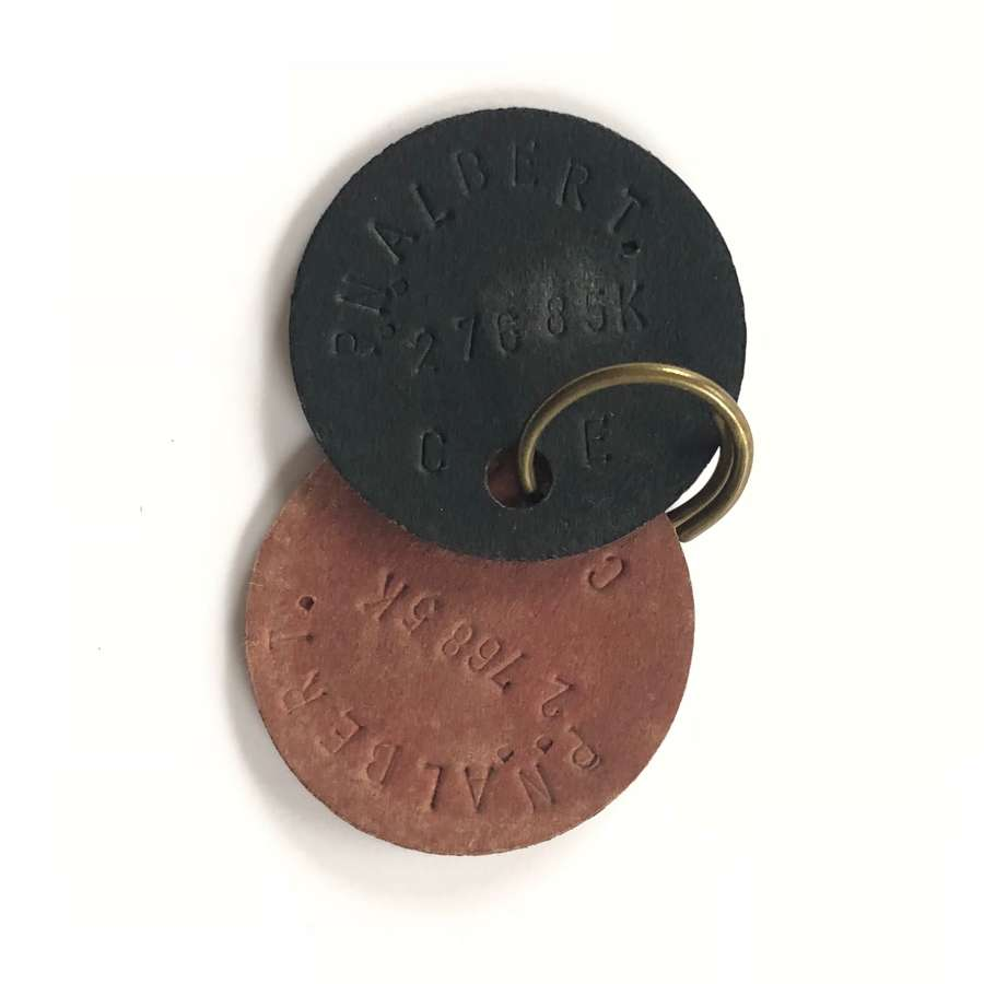 "WW2 Period National Fire Service ""ID"" Dog Tags."