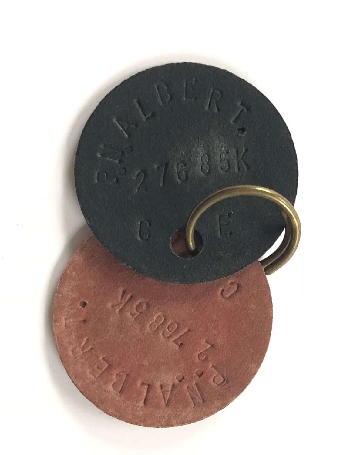 "WW2 Period National Fire Service ""ID"" Dog Tags."