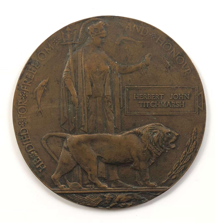 WW1 5th Bn Inniskilling Fusiliers 1918 Memorial Plaque.