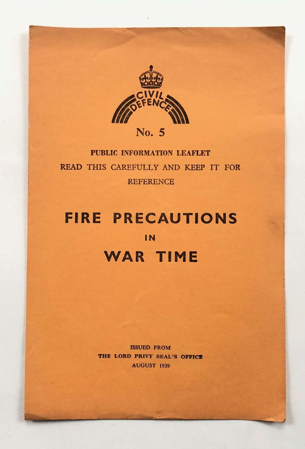 WW2 Home Front Civil Defence Fire Precautions in War Time.