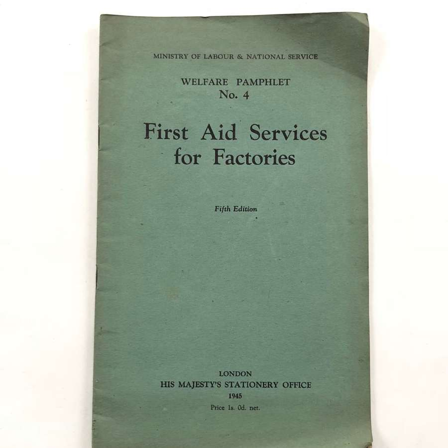 WW2 Home Front First Aid Services For Factories.