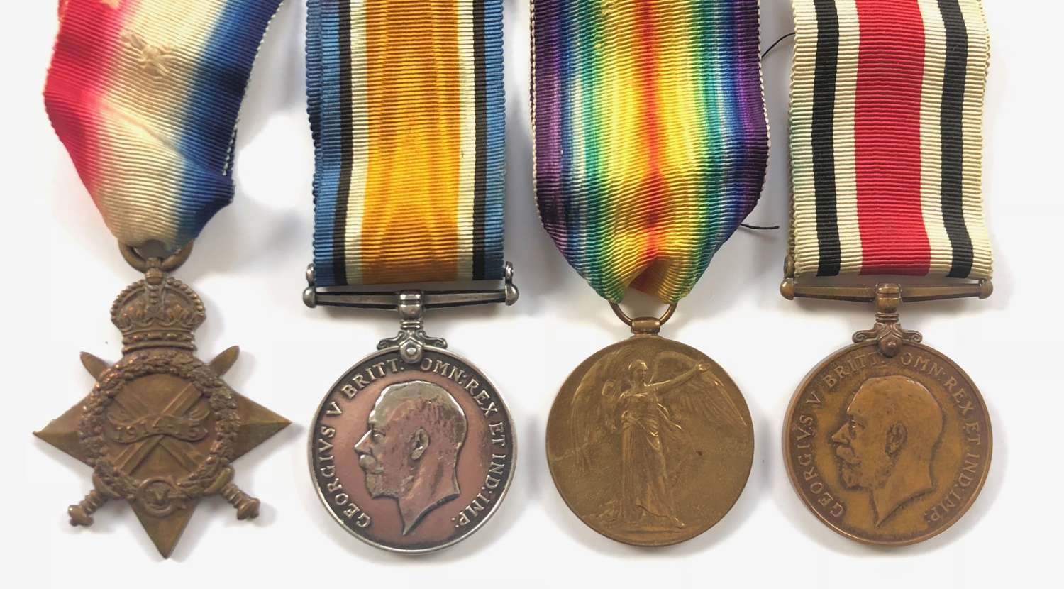 WW1 38th Welsh Division Royal Artillery Group of Four Medals.