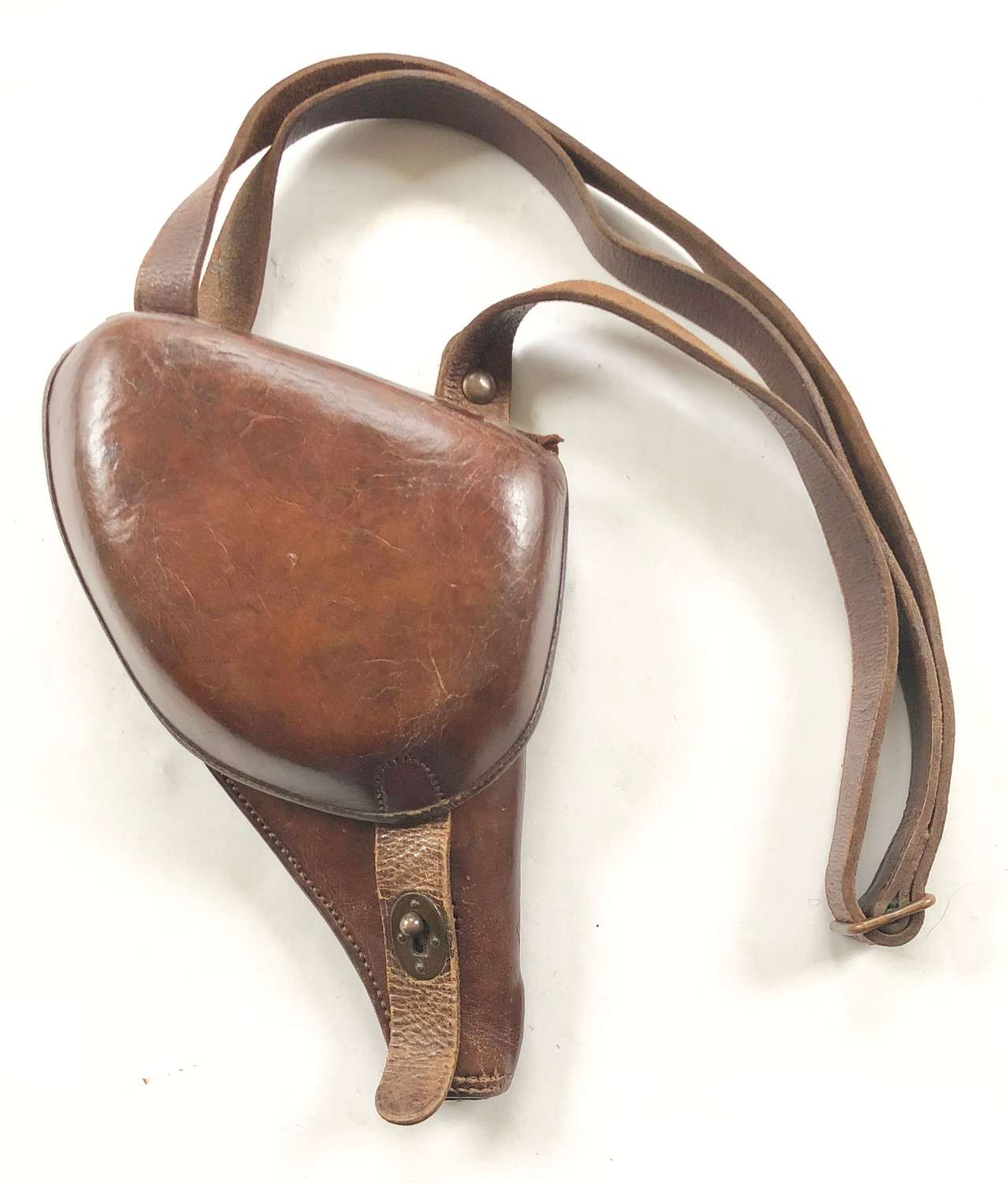 WW1 French 1892 Pattern Leather Pistol Holster 36th Artillery Regiment