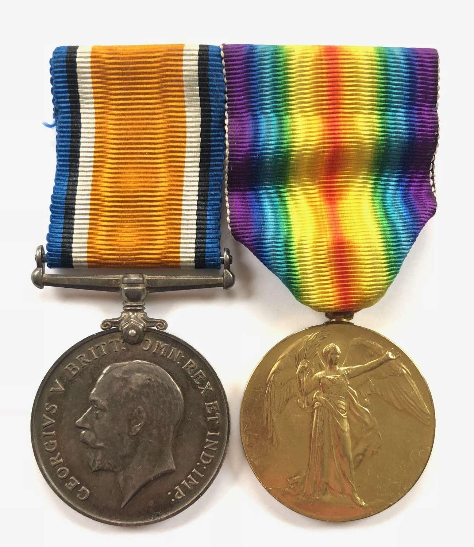 WW1 Royal Garrison Artillery Pair of Medals.