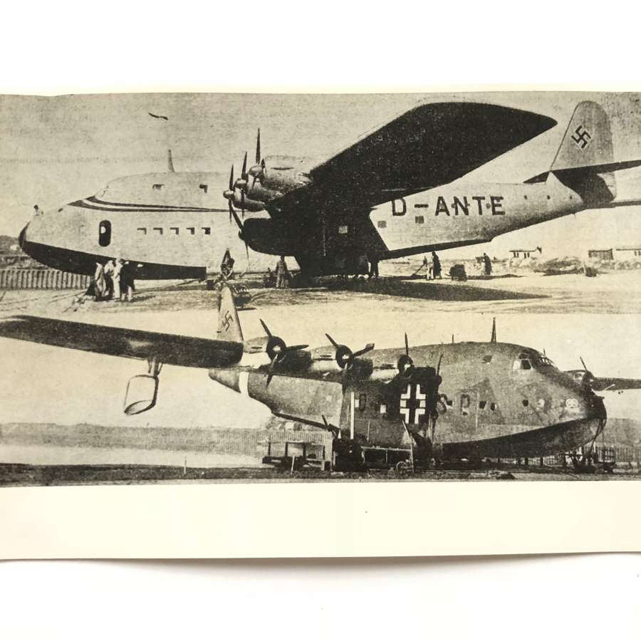 WW2 RAF Intelligence Section Original Photo German BV 222 Aircraft