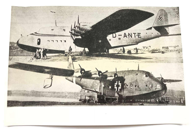WW2 RAF Intelligence Section Original Photo German BV 222 Aircraft