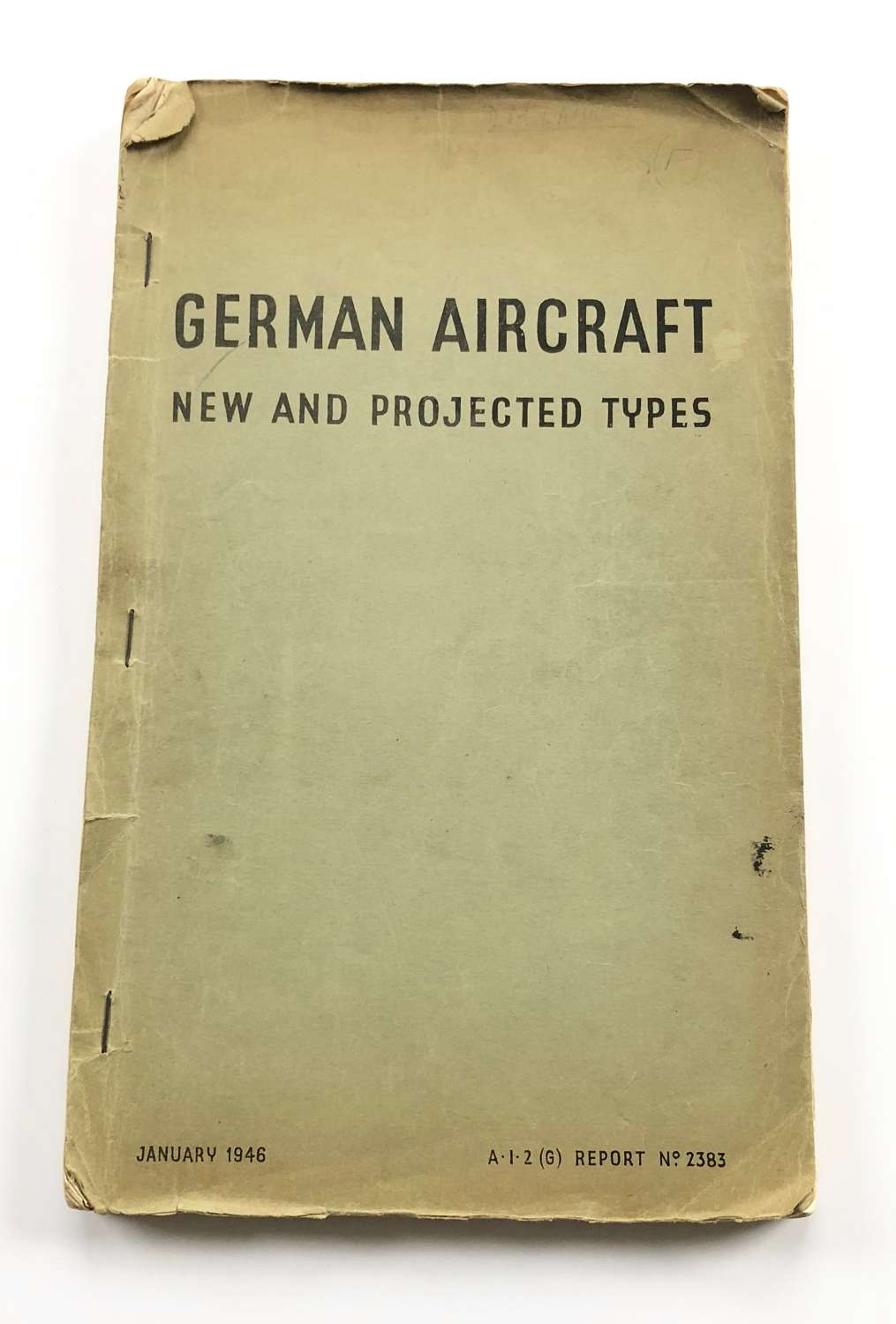 WW2 RAF German Aircraft New and Projected Types 1946.