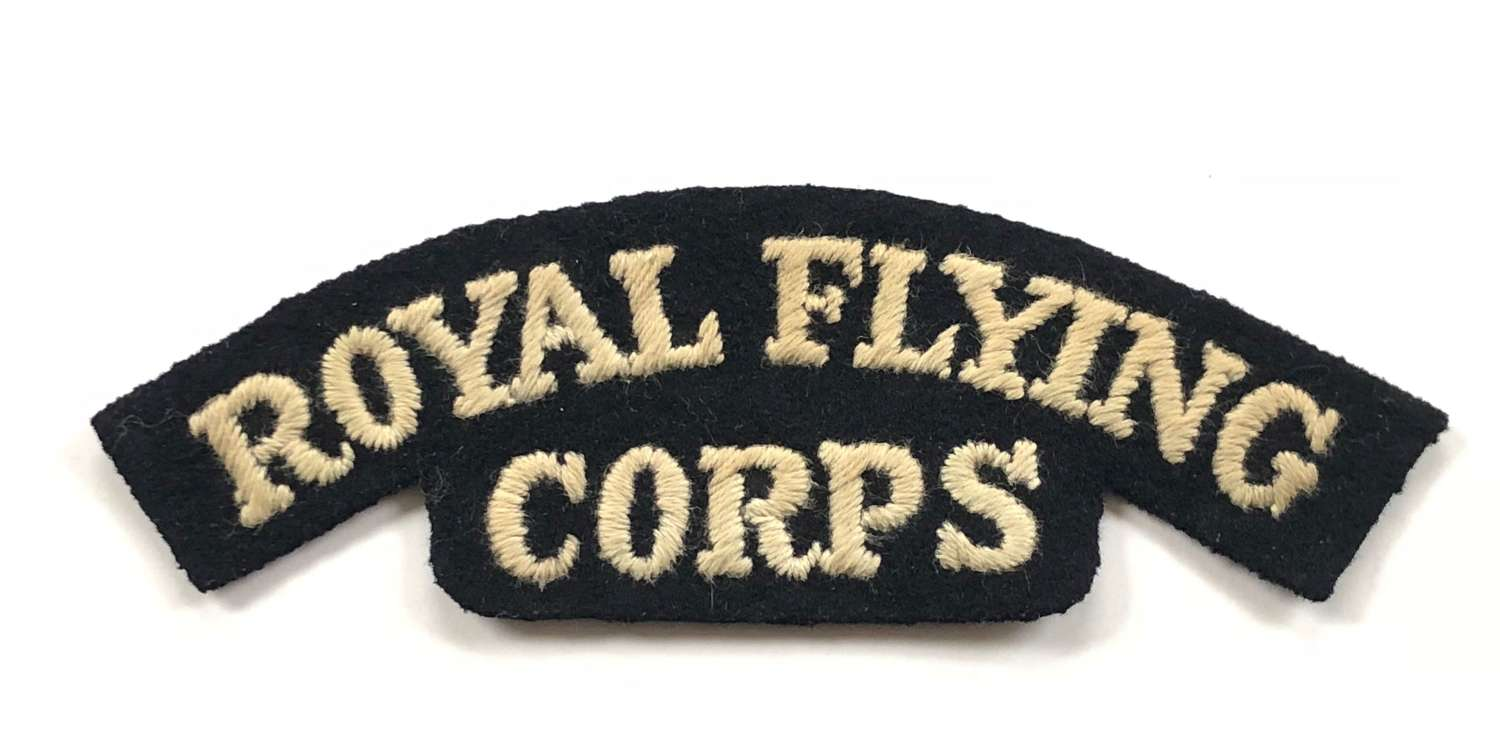 WW1 RFC Royal Flying Corps Shoulder Title Badge.