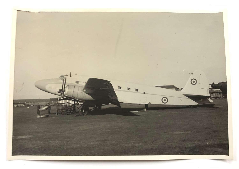 WW2 RAF Intelligence Section Original Photograph Italian SM95 Aircraft