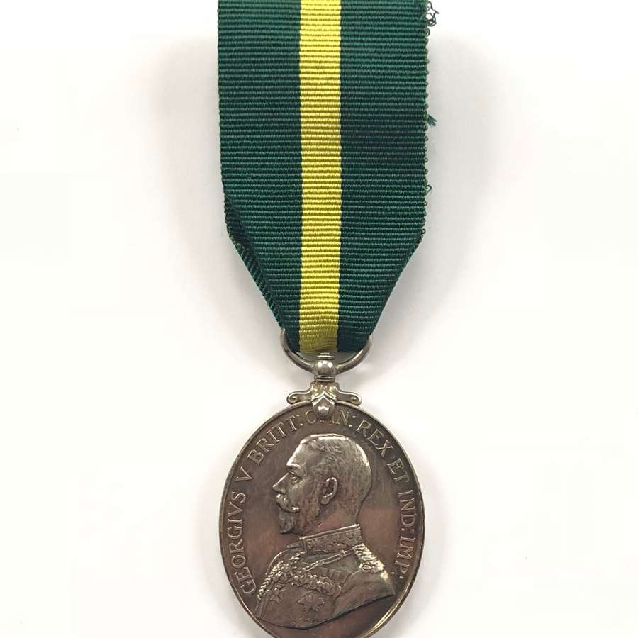 4th Bn Devonshire Regiment Territorial Force Efficiency Medal.