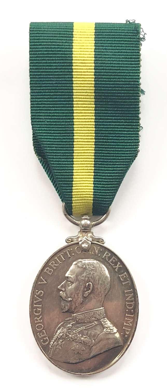 4th Bn Devonshire Regiment Territorial Force Efficiency Medal.