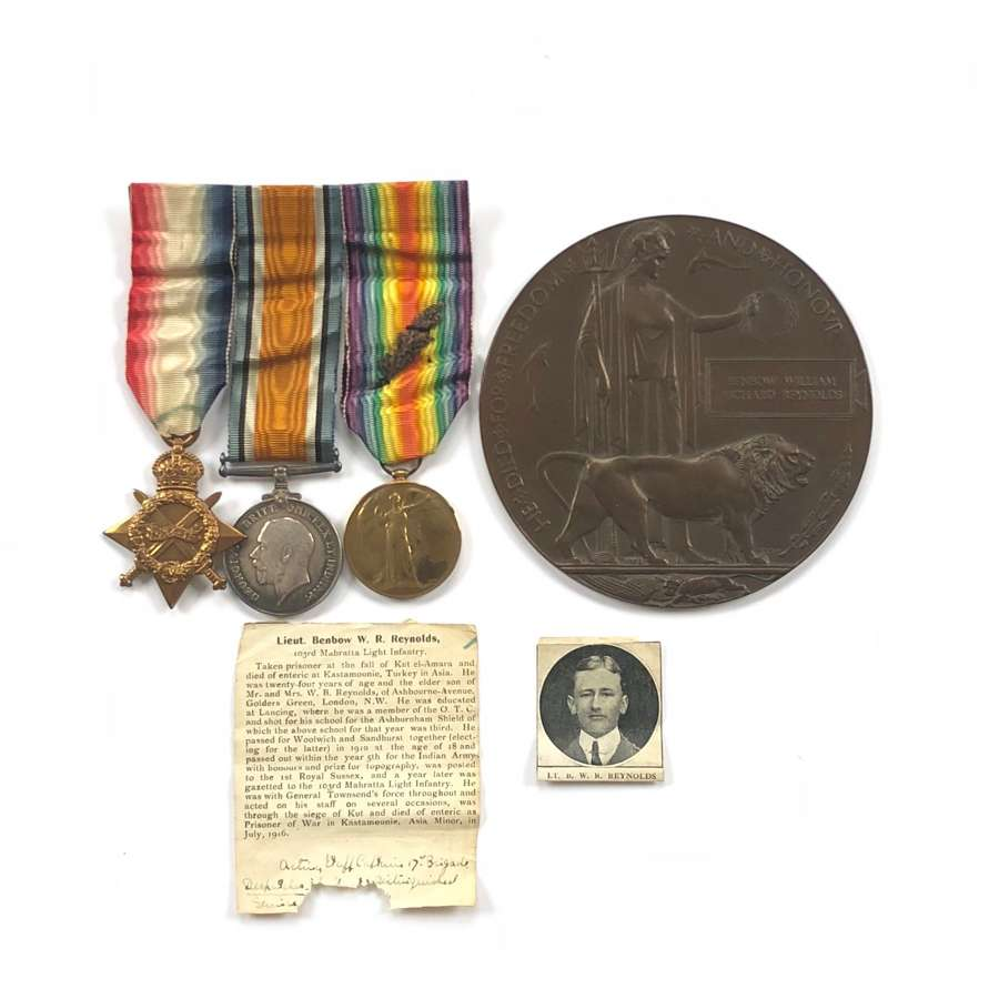 WW1 103rd Maharatta L.I Casualty Officer's MID Defence of Kut Medals