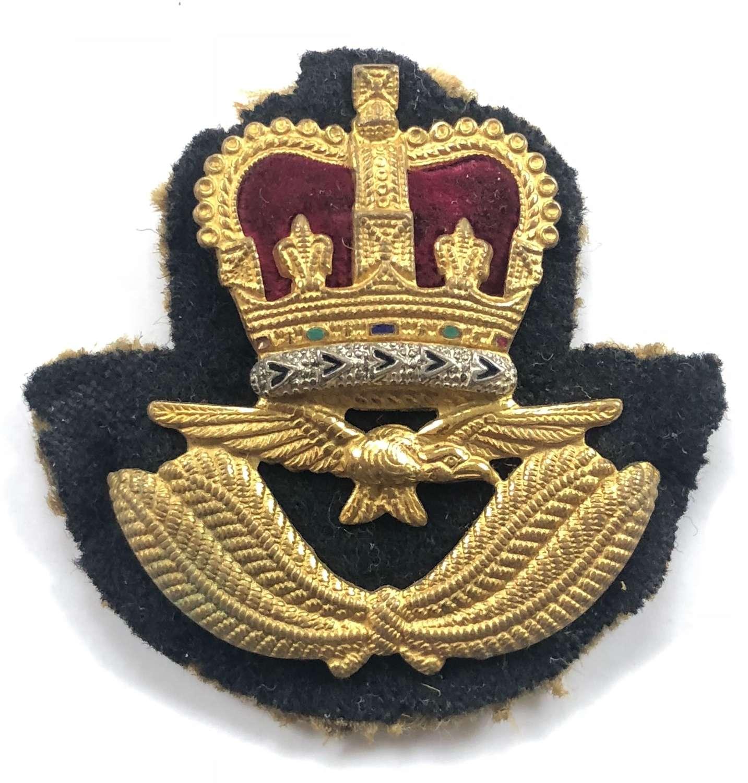RAF Officer's Beret Cap Badge.