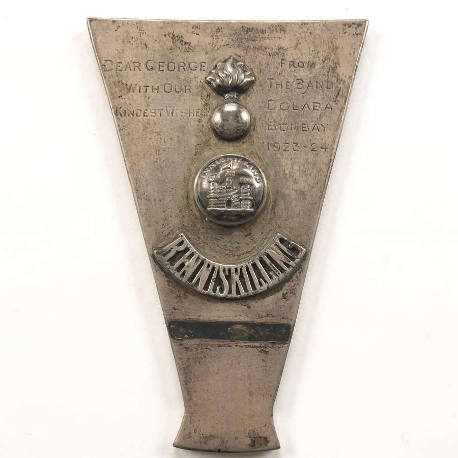 Interwar Royal Inniskilling Regimental Trophy.