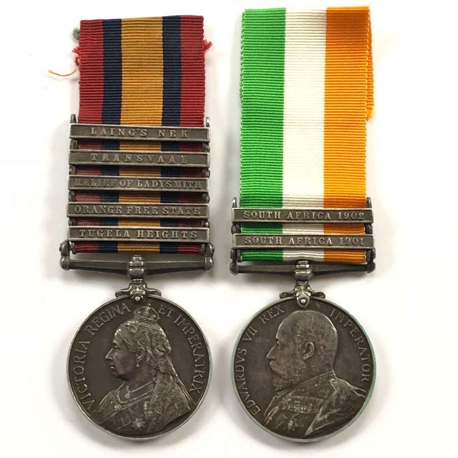 1st Bn Royal West Surrey Regiment Boer War Pair of Medals.