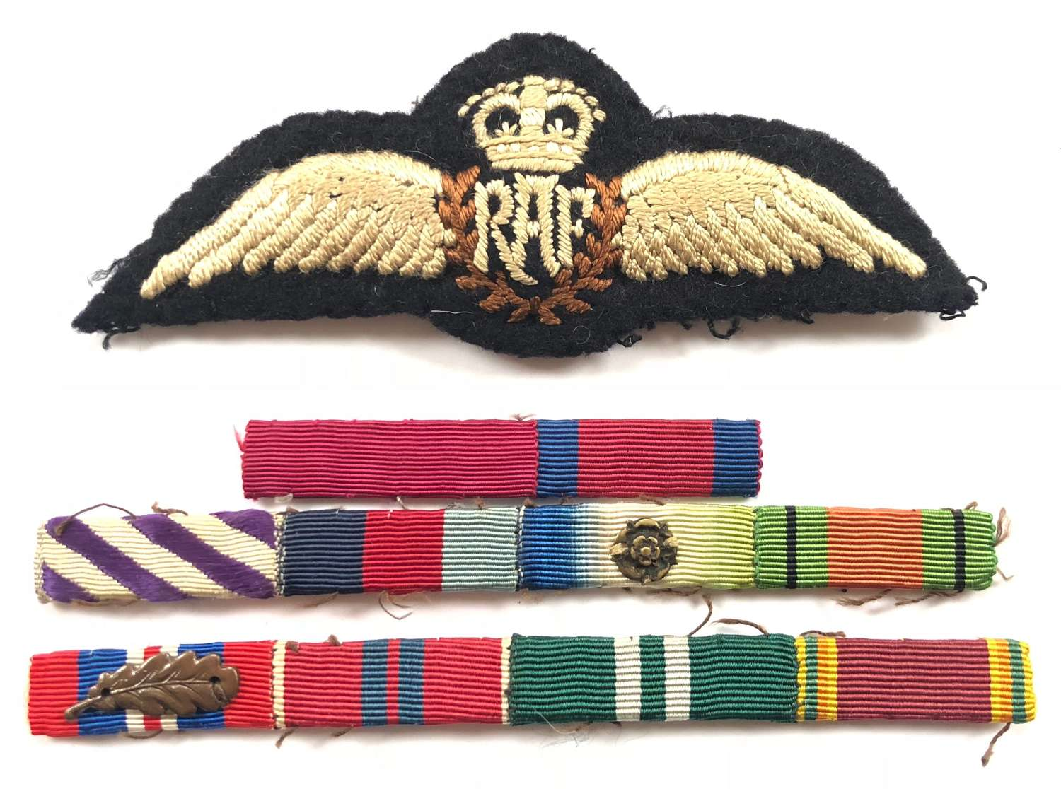 RAF Pilot Wings & Medal Ribbons of AVM R.B. Thomson CB., DSO.DFC