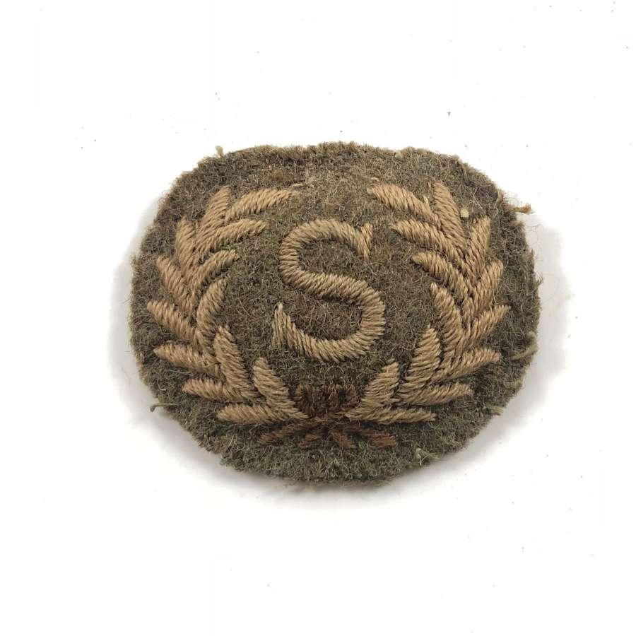 WW1 Royal Artillery Surveyor Trade Badge.