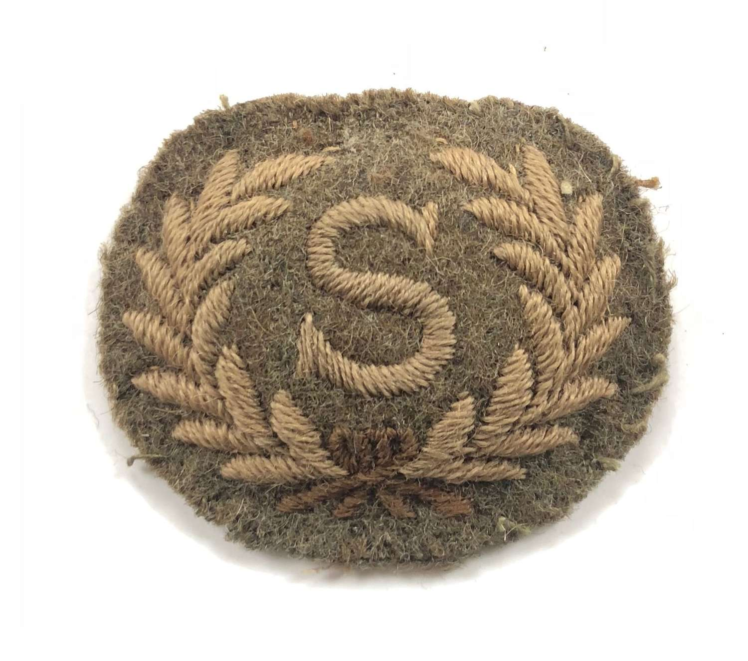 WW1 Royal Artillery Surveyor Trade Badge.