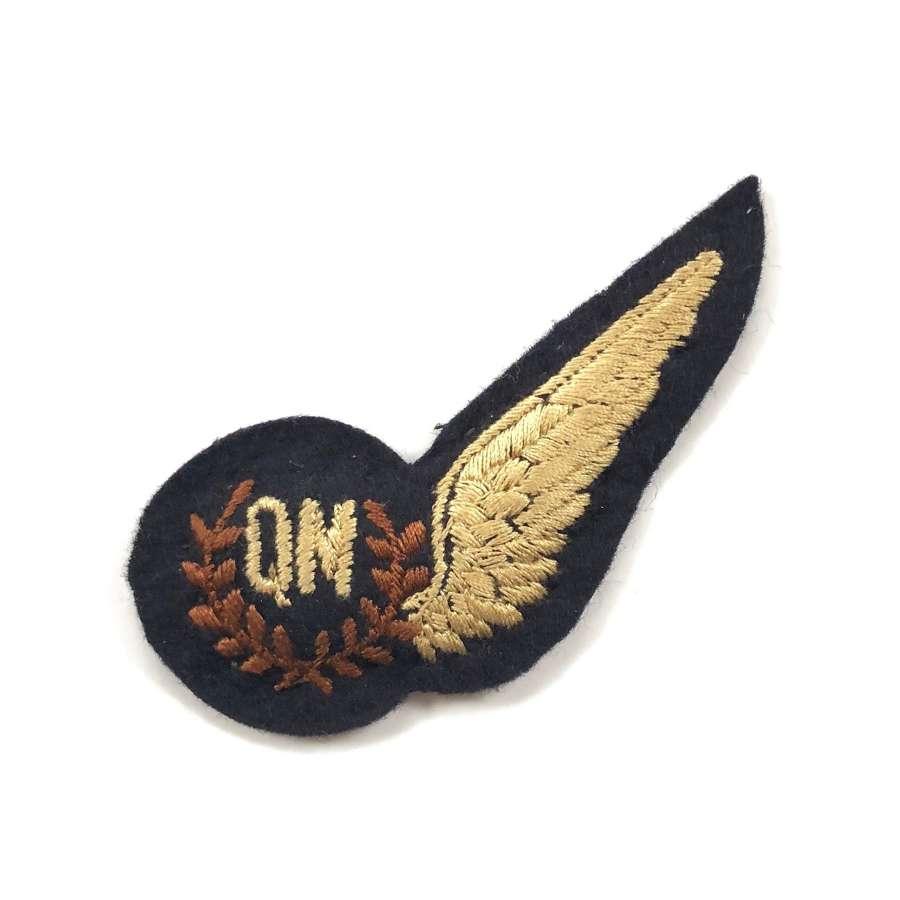RAF Cold War Period Air Quartermaster Brevet Badge.