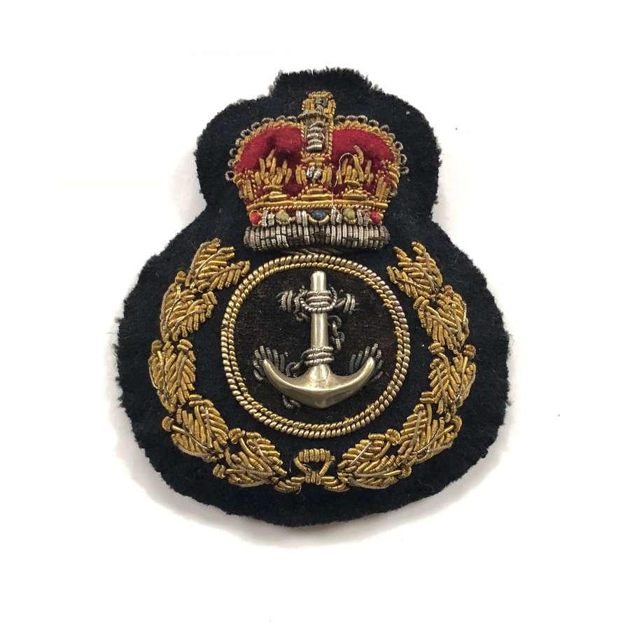 Royal Navy Cold War Warrant Officer Bullion Cap Badge.