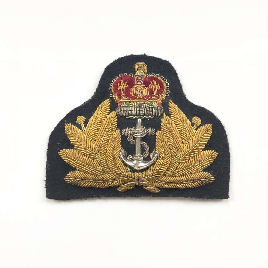 Royal Navy Cold War Period Officer's Cap Badge.