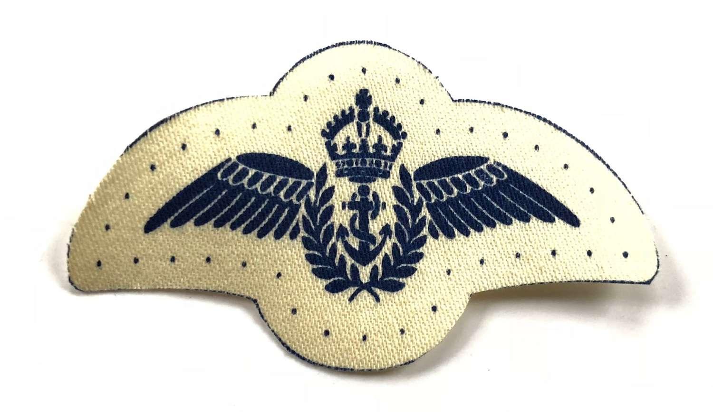 WW2 Royal Navy Fleet Air Arm Ratings Printed Tropical Pilot Wings.