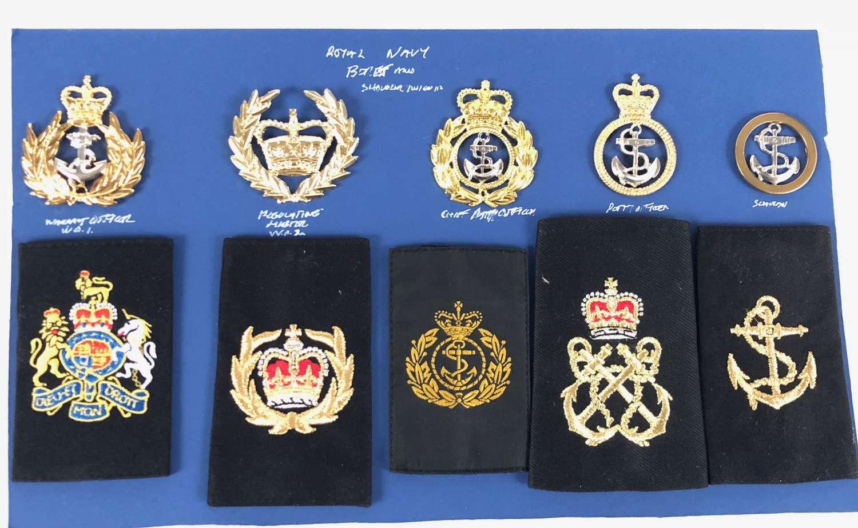 Royal Navy Cold War Badges.
