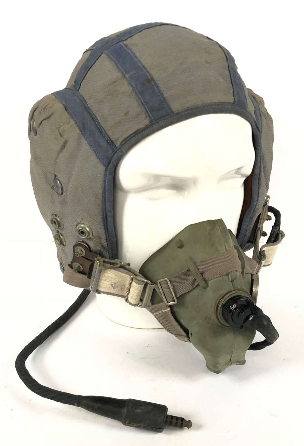 RAF Cold War Period Attributed 209 Squadron Flying Helmet & Mask.