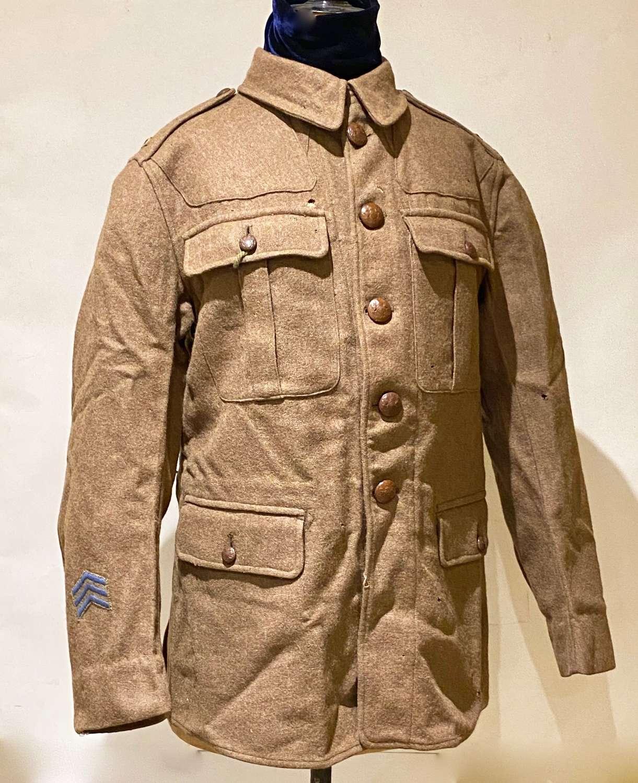WW1 York & Lans Regiment 1917 Dated British Other Rank's Tunic.