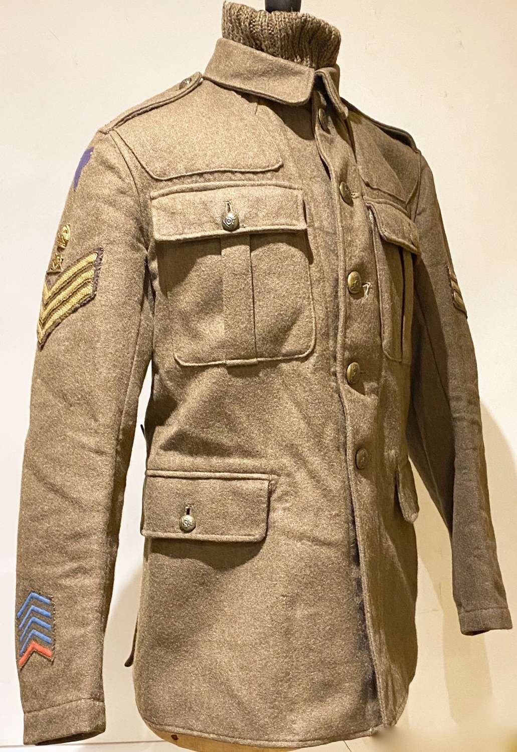 WW1 Royal Artillery 4th Division Badged Other Ranks 1902 Pattern Tunic
