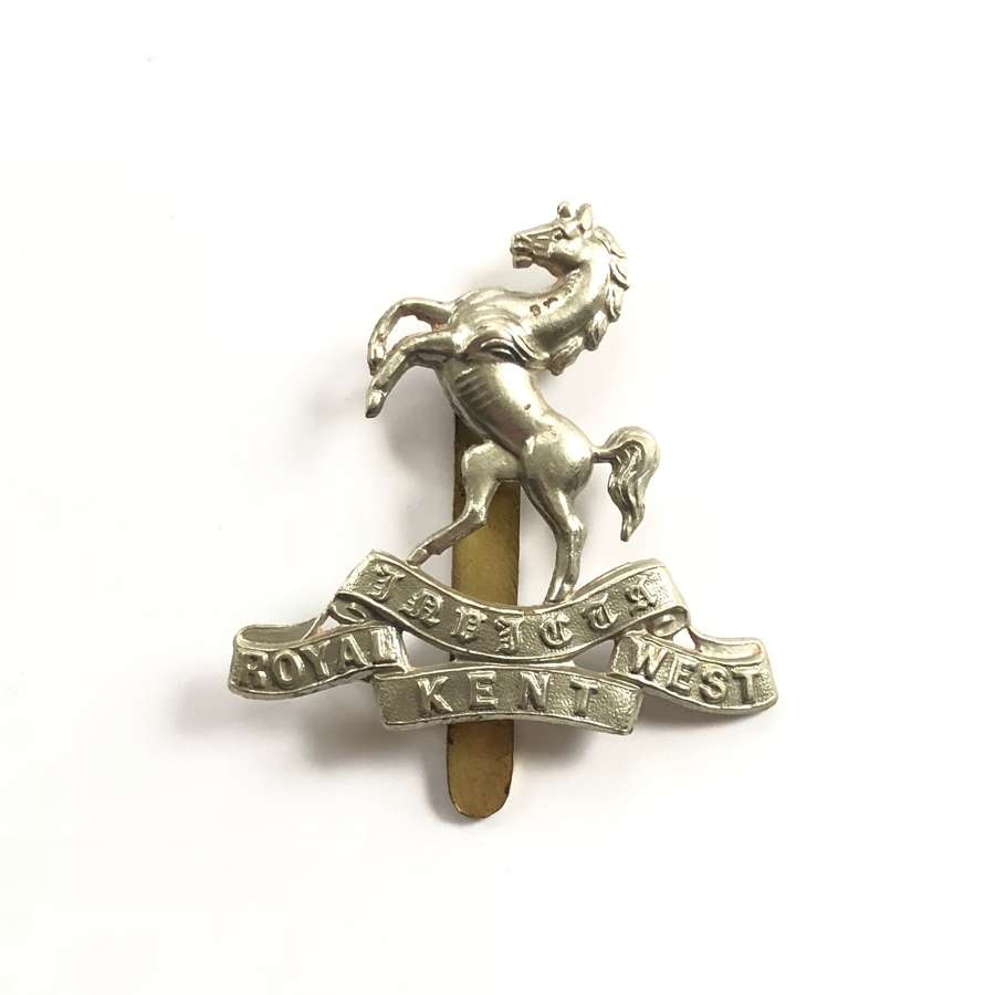 WW1/WW2 Royal West Kent Regiment Cap Badge.