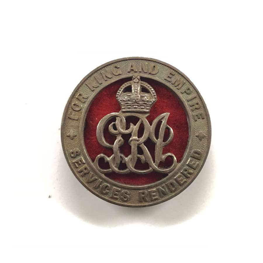 WW1 Duke of Cornwall's Light Infantry Silver War Badge Low Number