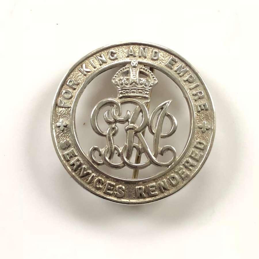 WW1 Ox & Bucks Light Infantry Silver War Badge.