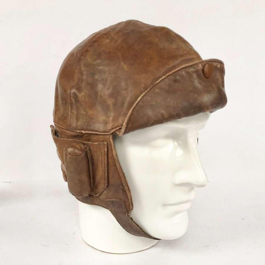 WW1 Period RAF RNAS RAF Leather Flying Helmet.