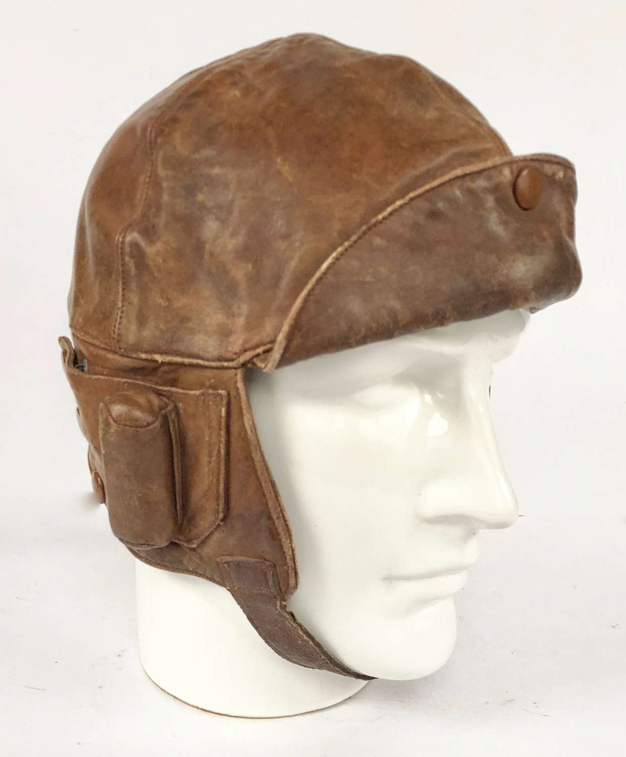 WW1 Period RAF RNAS RAF Leather Flying Helmet.