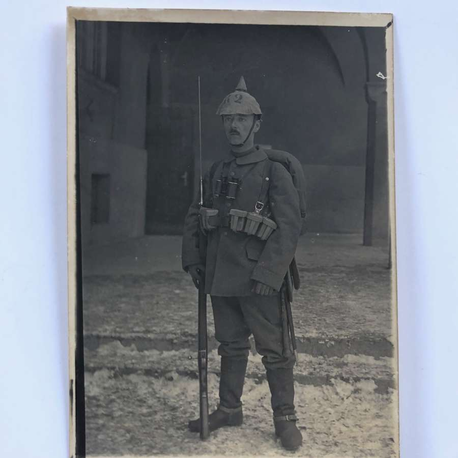 WW1 Imperial German Infantry Soldier Photograph.