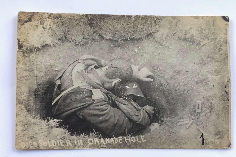 WW1 Original Photograph of a Dead Soldier.