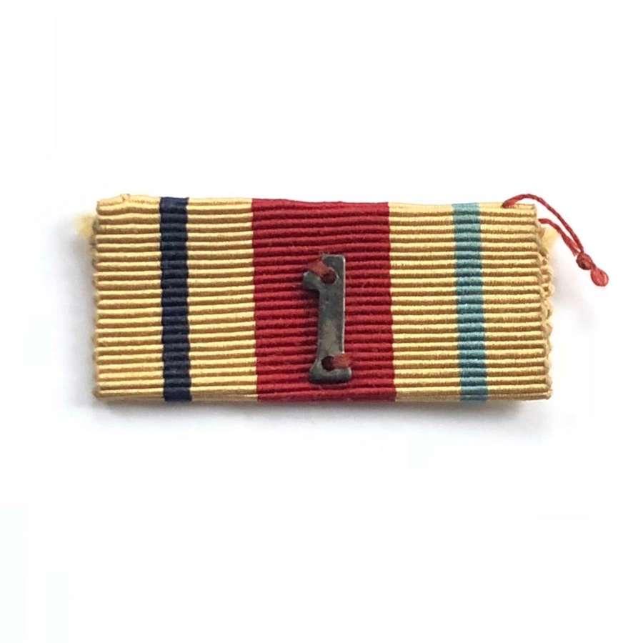 WW2 Africa Star, 1st Army Uniform Ribbon Bar.