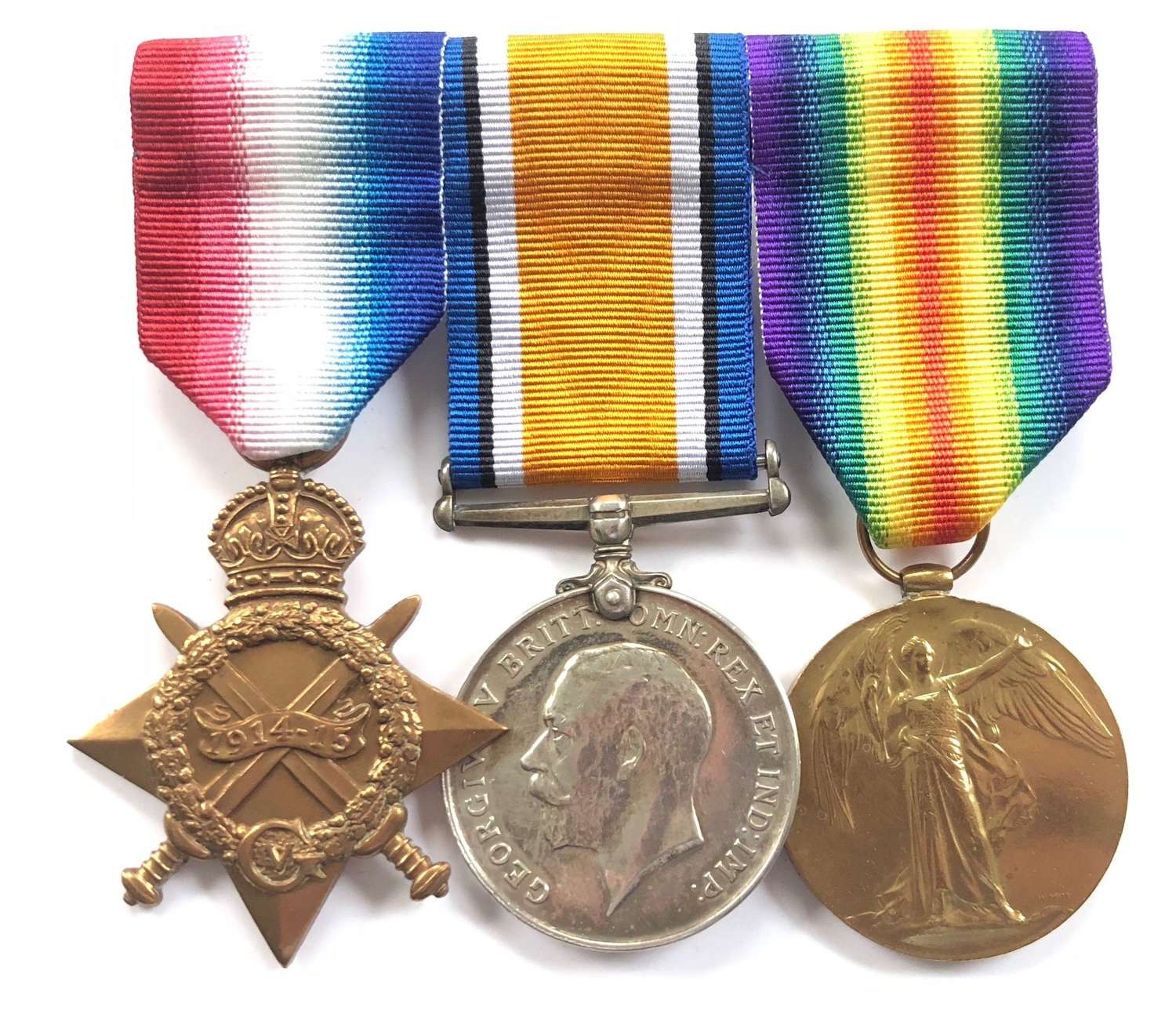 WW1 8th Bn  KOYLI King's Own Yorkshire Light Infantry Medals Wounded