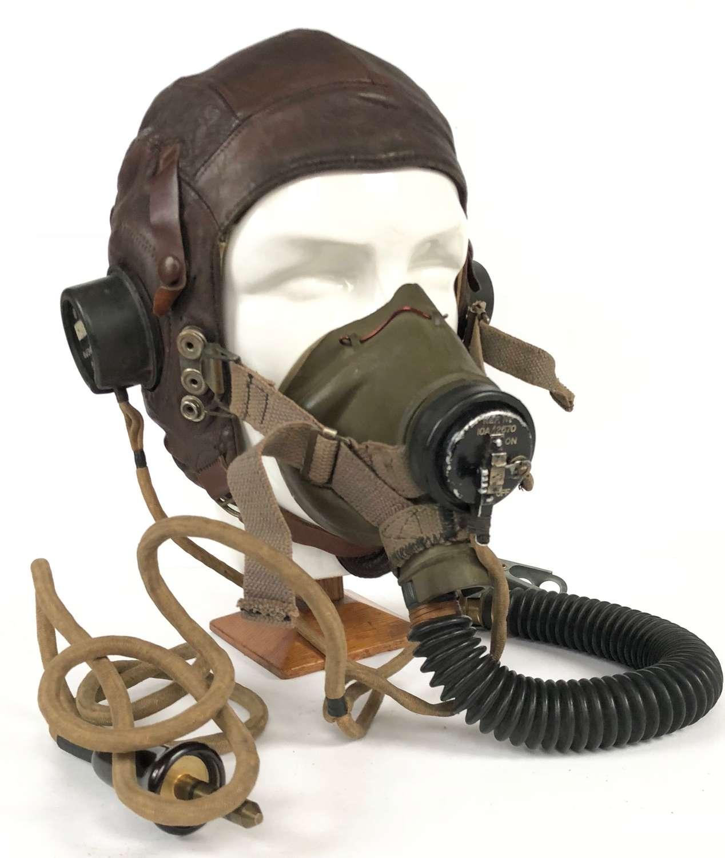 WW2 RAF Aircrew Flying Helmet Circa 1942.