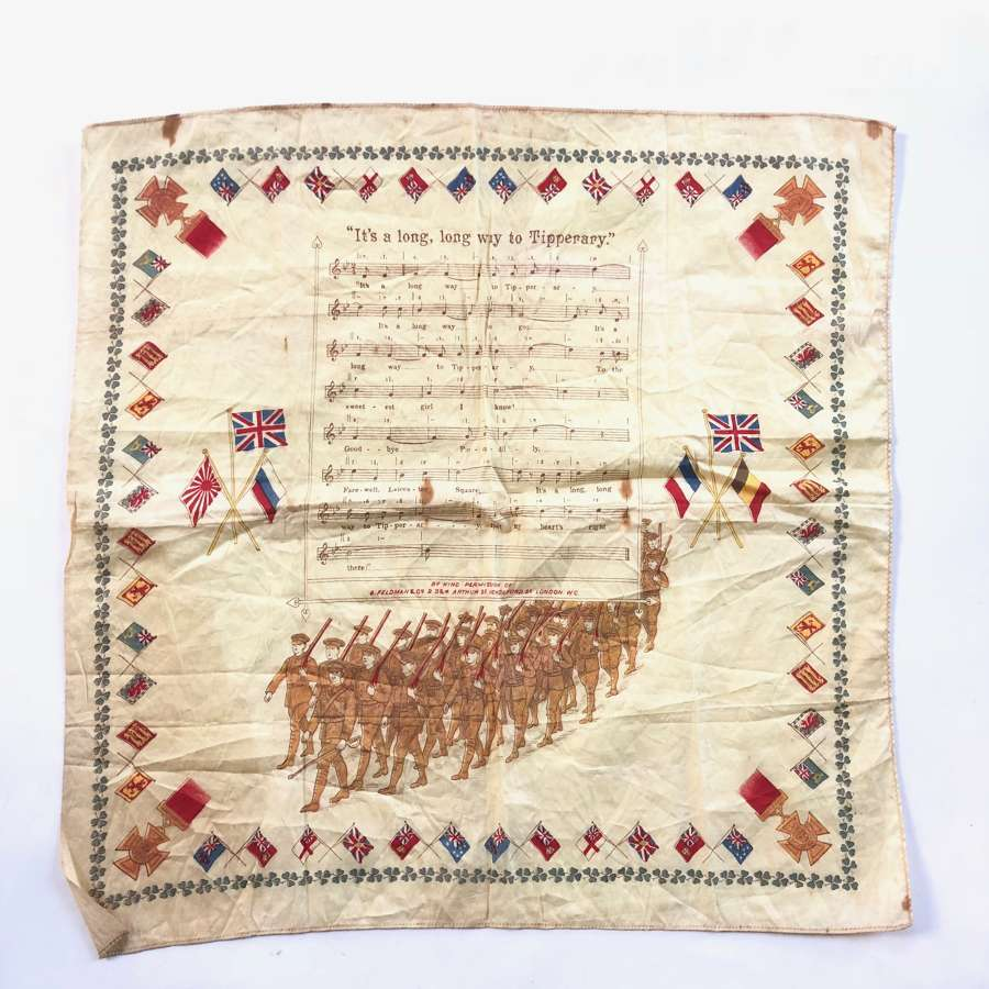 "WW1 Irish ""It's A Long Way to Tipperary"" Patriotic handkerchief."
