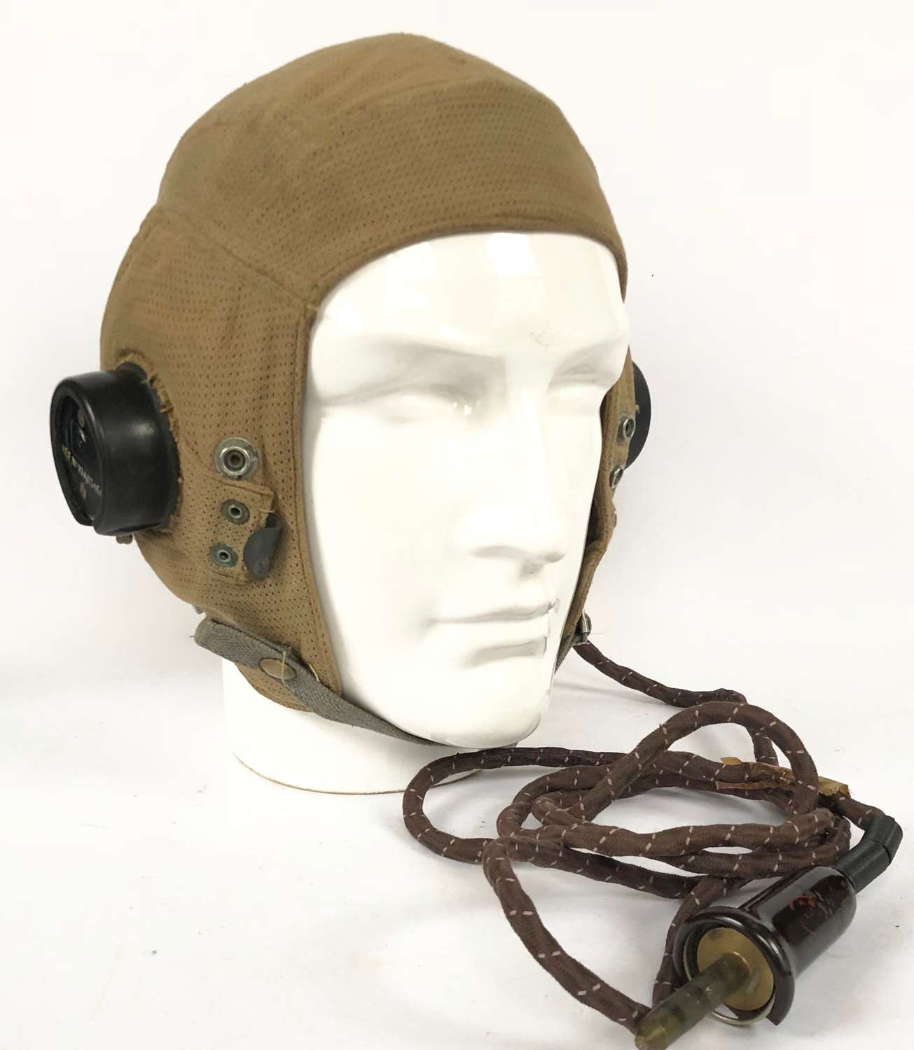 WW2 RAF E Type Flying Helmet with Wiring.