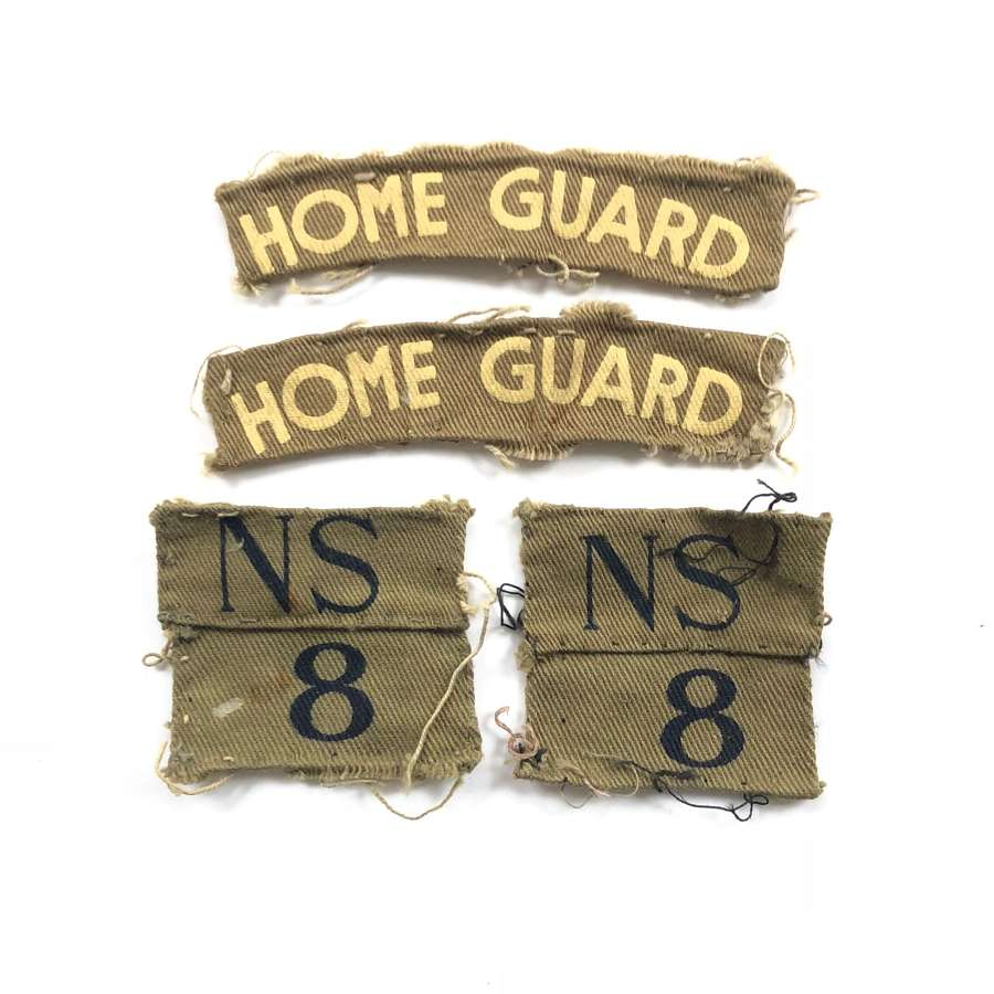 WW2 Home Guard North Staffordshire Burton & Tutbury Bn Cloth Badges