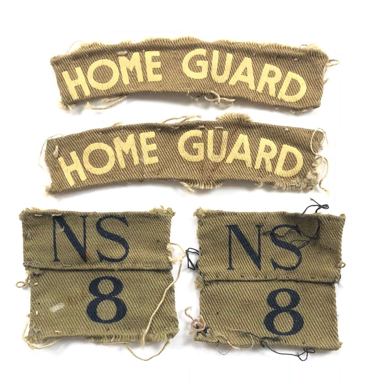 WW2 Home Guard North Staffordshire Burton & Tutbury Bn Cloth Badges